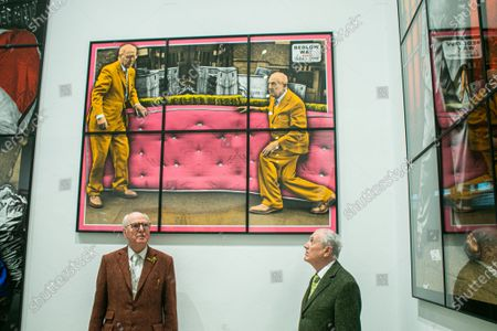Editorial picture of Gilbert & George Solo Exhibition, New Normal Pictures, Park Lane, London, UK - 12 Apr 2021