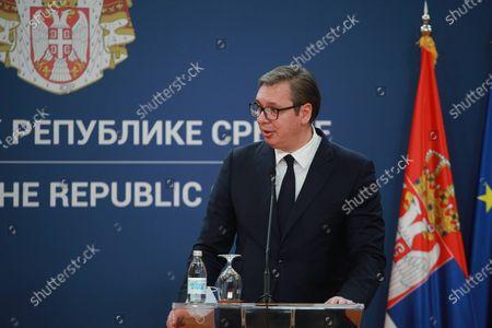 Editorial image of Serbia Bahrain Diplomacy, Belgrade, Serbia - 05 Apr 2021