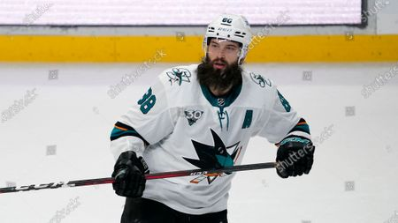 San Jose Sharks defenseman Brent Burns skates during the second period of an NHL hockey game against the Los Angeles Kings, in Los Angeles