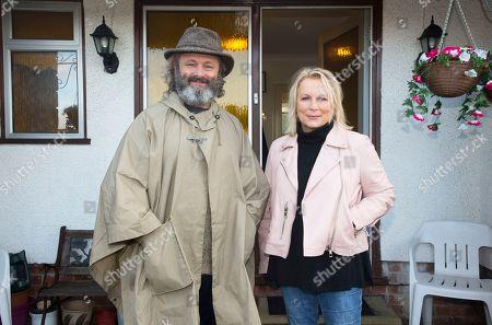 Michael Sheen and Jennifer Saunders.