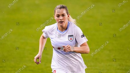 Stock Picture of Chicago Red Stars forward Kealia Ohai Watt (2) runs downfield during an NWSL Challenge Cup soccer match, in Houston
