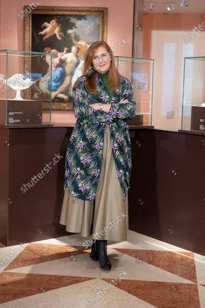 Francesca Thyssen Bornemisza attends 'Tesoros de la Colección de la Familia Thyssen-Bornemisza' exhibition at the Thyssen-Bornemisza museum in Madrid.
