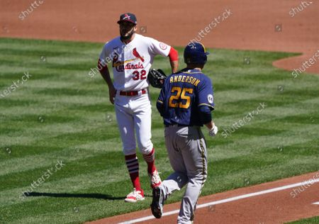 Editorial photo of Milwaukee Brewers vs St. Louis Cardinals, Busch Stadium, St. Louis, USA - 11 Apr 2021