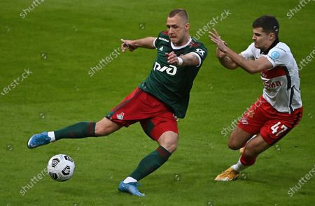 Editorial photo of Russian Premier League, Lokomotiv v Spartak, Railways Arena stadium, Moscow, Russia - 11 Apr 2021