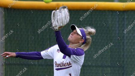 Northern Iowa's Hannah Isley during an NCAA softball game, in Cedar Falls, Iowa