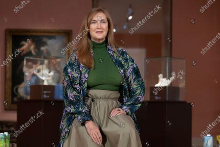 Francesca Thyssen Bornemisza attends 'Tesoros de la Colección de la Familia Thyssen-Bornemisza' exhibition at the Thyssen-Bornemisza museum