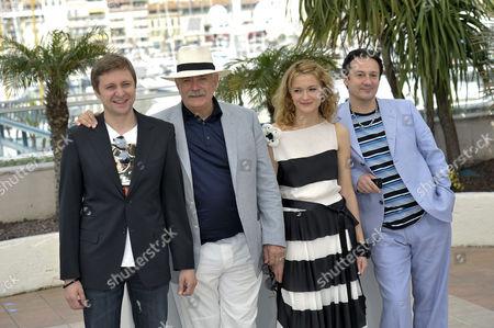 Nikita Mikhalkov director, Nadezhda Mikhalkov and Oleg Menshikov,