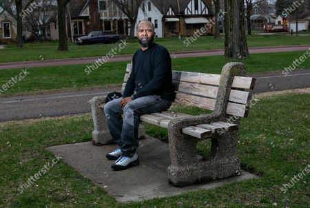 Stock Image of Jamar Nelson, community activist, poses for a portrait on Wednesday, April 7, 2021 in Minneapolis, MN. (Jason Armond / Los Angeles Times)