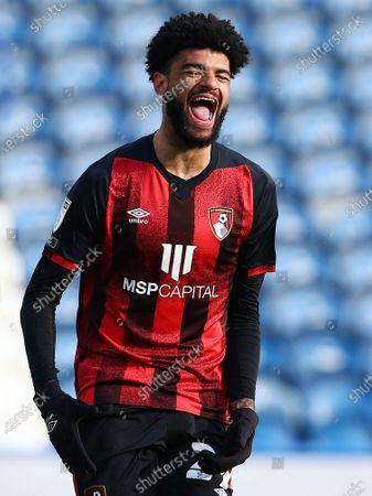 Philip Billing of Bournemouth celebrates scoring the opening goal