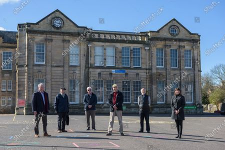Bill Grant, Michael Hitchon, stanely Sarsfield, Jimmy Begg, Nicholas Kilpatrick, Iona Mcdonald.Museum of Ayrshire group, outside the old Ayr Grammar School, are hoping to see the building transformed into a new tourist hub.