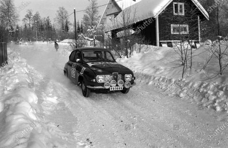 DECEMBER 07: Olle Dahl / Lars-Erik Haag, Saab 96 V4 during the Swedish Rally on December 07, 2017. (Photo by LAT Images)