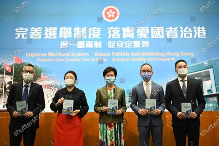 Editorial image of Hong Kong Government Press Conference On Improving Electoral System, China - 13 Apr 2021