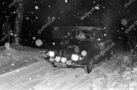 Stock Photo of DECEMBER 07: Olle Dahl / Lars-Erik Haag, Saab 96 V4 during the Swedish Rally on December 07, 2017. (Photo by LAT Images)