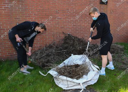Editorial photo of Community Gardening Project, EFL Day of Action, Football, Lincoln, UK - 14 Apr 2021