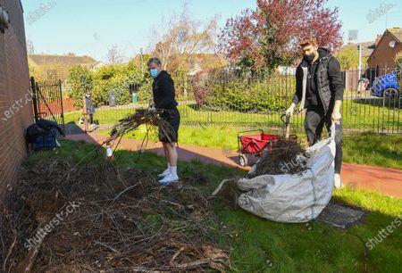 Editorial image of Community Gardening Project, EFL Day of Action, Football, Lincoln, UK - 14 Apr 2021