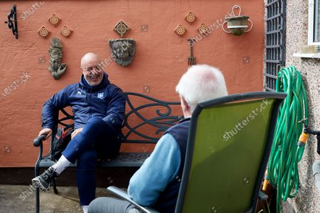 Editorial photo of Dementia in the Community Visits, EFL Day of Action, Football, Portland School, Birkenhead, UK - 14 Apr 2021