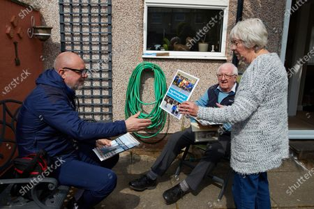 Editorial picture of Dementia in the Community Visits, EFL Day of Action, Football, Portland School, Birkenhead, UK - 14 Apr 2021