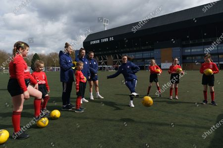 Editorial picture of Girls Football Festival, EFL Day of Action, Football, Portman Road, Ipswich, UK - 14 Apr 2021