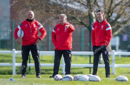 Stock Picture of Paul Anderson with Shaun Wane & Paul Sculthorpe.