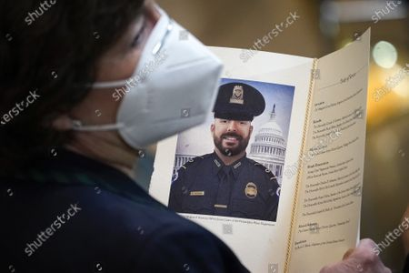 Editorial image of Capitol Police Officer William Evans Lies In Honor In Capitol Rotunda, Washington, USA - 13 Apr 2021
