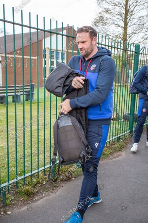 Salford City manager manager Gary Bowyer arriving at the Peninsula Stadium, The EFL Sky Bet League 2 match between Salford City and Bolton Wanderers at the Peninsula Stadium, Salford