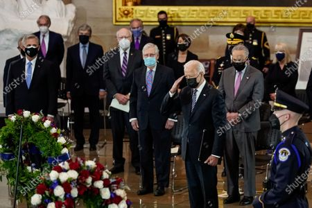 Editorial picture of Slain U.S. Capitol Police officer William Evans is honored at the U.S. Capitol in Washington, Washington, District of Columbia, USA - 13 Apr 2021