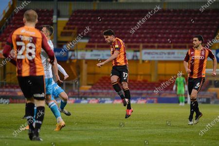 Gareth Evans Shot during the EFL Sky Bet League 2 match between Bradford City and Crawley Town at the Utilita Energy Stadium, Bradford