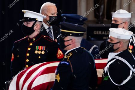 Editorial photo of Slain U.S. Capitol Police officer William Evans is honored at the U.S. Capitol in Washington, Washington, District of Columbia, USA - 13 Apr 2021