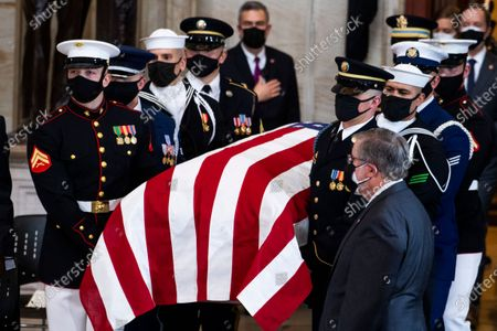 Editorial image of Slain U.S. Capitol Police officer William Evans is honored at the U.S. Capitol in Washington, Washington, District of Columbia, USA - 13 Apr 2021