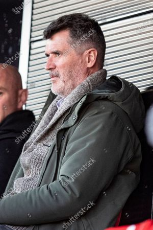Roy Keane during the EFL Sky Bet League 2 match between Salford City and Bolton Wanderers at the Peninsula Stadium, Salford
