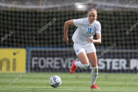 Anna Bjork Kristjansdottir (#19 Iceland) during friendly match between Italy and Iceland at Enzo Bearzot Stadium in Coverciano Florence, Italy