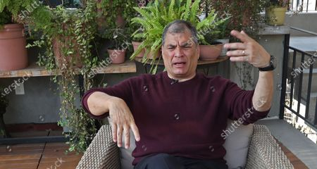 Editorial picture of Former President Correa says it was always 'difficult' to win elections in Ecuador, Mexico City - 13 Apr 2021