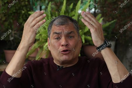 Editorial photo of Former President Correa says it was always 'difficult' to win elections in Ecuador, Mexico City - 13 Apr 2021
