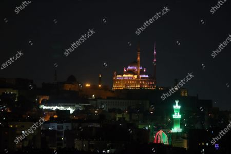 A view of the Great Mosque of Muhammad Ali Pasha situated in the Citadel of Cairo, Egypt, 13 April 2021. Muslims around the world celebrate the holy month of Ramadan by praying during the night time and abstaining from eating, drinking, and sexual acts between sunrise and sunset. Ramadan is the ninth month in the Islamic calendar and it is believed that the revelation of the Koran's first verses occurred during its last 10 nights
