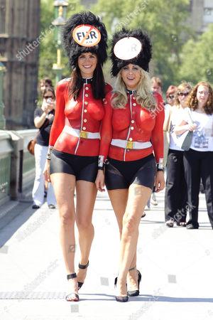 Lucy Clarkson and Victoria Eisermann, Peta's Europe's sexiest vegetarian 2007.