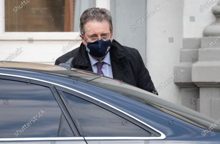 Brussels region Minister-President Rudi Vervoort pictured arriving for a meeting of the consultative committee with ministers of the Federal government, the regional governments and the community governments, Wednesday 14 April 2021 in Brussels. Measures to fight against the Covid-19 pandemy will be discussed.