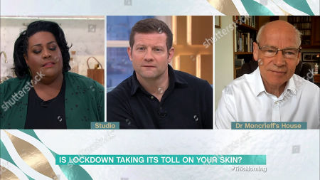 Stock Image of Alison Hammond, Phillip Schofield and Dr George Moncrieff