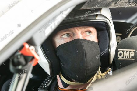 Matt Neal behind the wheel of the STARD ERX during the 5 Nations British Rallycross Championship Media Day at Lydden Hill Race Circuit on 14th April 2021