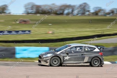 Stock Picture of Matt Neal behind the wheel of the STARD ERX into paddock bend during the 5 Nations British Rallycross Championship Media Day at Lydden Hill Race Circuit on 14th April 2021