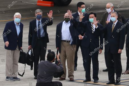 Editorial picture of Former-US officials arrive in Taiwan, Taipei - 14 Apr 2021