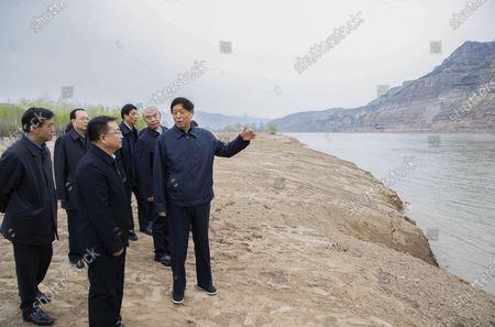 Editorial photo of China Shaanxi Li Zhanshu Yellow River Protection - 09 Apr 2021