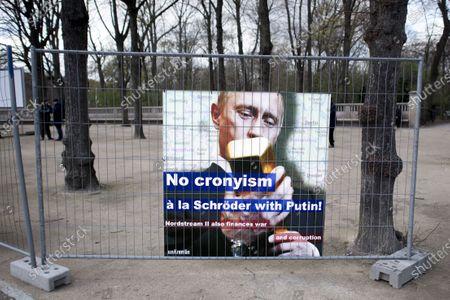 Editorial photo of Alexei Navalny, Putin-Protest, Berlin, Germany - 13 Apr 2021