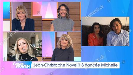 Stock Photo of Kaye Adams, Frankie Bridge, Paris Fury and Jane Moore, Jean-Christophe Novelli and Michelle Kennedy