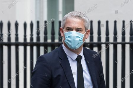 Chief Secretary to the Treasury Stephen Barclay arrives in Downing Street on 14 April, 2021 in London, England.
