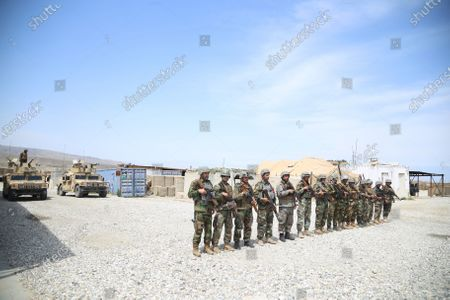 Afghan Army soldiers secure a military base that was previously in use by the US soldiers, in Haska Meyna district of Nangarhar province, Afghanistan, 14 April 2021. According to reports, US President Joe Biden is set to announce that American troops will leave Afghanistan by 11 September. Violence has escalated in the country despite the ongoing peace talks between representatives of Afghan President Ashraf Ghani and the Taliban since last year. However, these talks have made little progress so far.