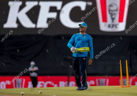 South Africa's coach Mark Boucher during the third T20 cricket match between South Africa and Pakistan at Centurion Park in Pretoria, South Africa