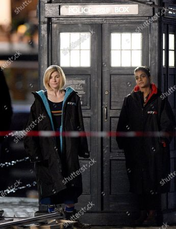 Jodie Whittaker filming Dr Who