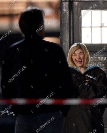 Stock Photo of Jodie Whittaker filming Dr Who