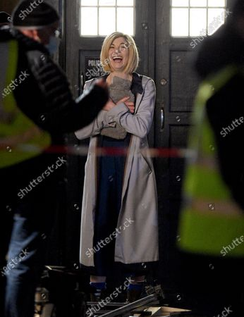 Stock Image of Jodie Whittaker filming Dr Who