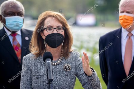 Editorial picture of Former Congresswoman Gabby Giffords hosts a press conference at the Gun Violence Memorial on the National Mall, Washington, USA - 14 Apr 2021